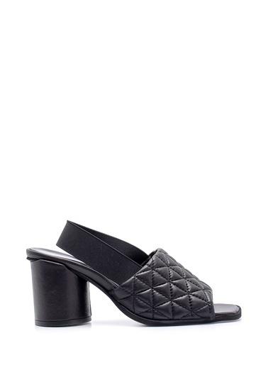 Derimod Hakiki Deri Sandalet Siyah